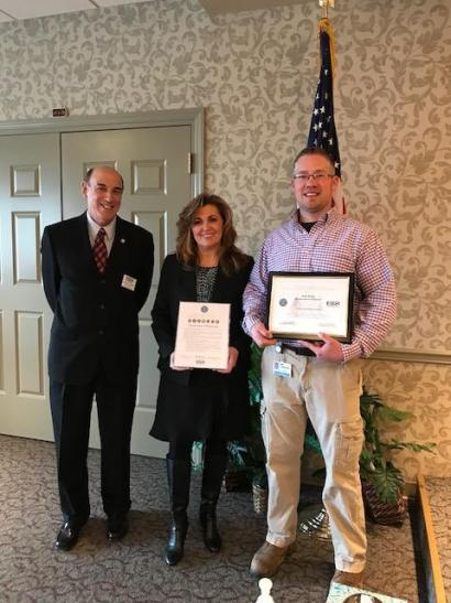 ESGR Patriot Award given to Grounds Director at Plum Creek