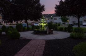 Outside Water Fountain at Night