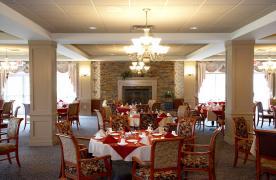Windows Dining Room at Homewood at Plum Creek